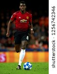paul pogba of manchester united ... | Shutterstock . vector #1256742346