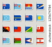label   oceanian flags | Shutterstock .eps vector #125674784