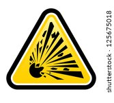 explosive hazard sign. ... | Shutterstock .eps vector #125675018