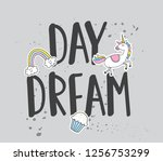 t shirt design with quotes and... | Shutterstock . vector #1256753299