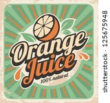 Orange Juice Retro Poster....