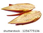 banana blossom on white... | Shutterstock . vector #1256775136
