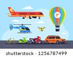 set mode of transport with car  ... | Shutterstock .eps vector #1256787499