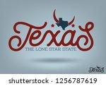 texas logo design concept  with ... | Shutterstock .eps vector #1256787619