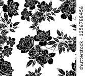 abstract elegance seamless... | Shutterstock . vector #1256788456