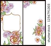 romantic wedding invitation... | Shutterstock .eps vector #1256791303
