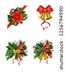 christmas festive decoration... | Shutterstock .eps vector #1256794990