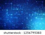 digital abstract technology... | Shutterstock . vector #1256795383