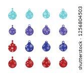 christmas ball  christmas... | Shutterstock .eps vector #1256804503