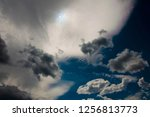 dark and bright clouds of... | Shutterstock . vector #1256813773