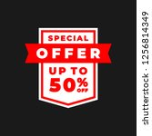 special offer. up to 50  sale... | Shutterstock .eps vector #1256814349