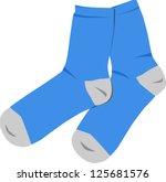 blue socks   Shutterstock .eps vector #125681576