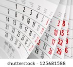 close up a calendar page | Shutterstock . vector #125681588