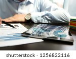business man working and... | Shutterstock . vector #1256822116