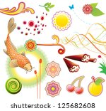 vector illustration set of... | Shutterstock .eps vector #125682608