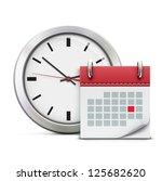 vector illustration of timing... | Shutterstock .eps vector #125682620