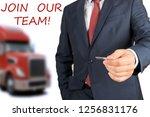 businessman leasing a new truck ... | Shutterstock . vector #1256831176