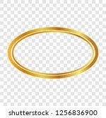 golden oval frame double oval... | Shutterstock .eps vector #1256836900