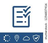 checklist icon stock vector...   Shutterstock .eps vector #1256837416