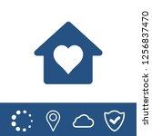 home vector web icon  | Shutterstock .eps vector #1256837470