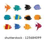 cartoon fish   Shutterstock . vector #125684099