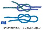knots sketches. nautical rope.... | Shutterstock .eps vector #1256846860