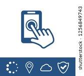 smart phone vector icon | Shutterstock .eps vector #1256849743