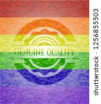 genuine quality lgbt colors... | Shutterstock .eps vector #1256855503