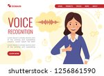 voice recognition. landing page ...