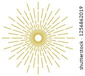 abstract golden sunburst on... | Shutterstock .eps vector #1256862019