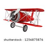 airplane toy isolated. 3d... | Shutterstock . vector #1256875876
