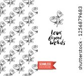 greeting card with text  love... | Shutterstock .eps vector #1256879683