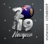 2019 happy new year turks and... | Shutterstock .eps vector #1256882029