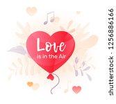 vector illustration of heart...   Shutterstock .eps vector #1256886166
