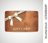 gift card with grunge cardboard ... | Shutterstock .eps vector #125688689
