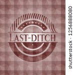 last ditch red emblem with... | Shutterstock .eps vector #1256888080