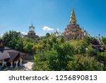 landscape of large golden... | Shutterstock . vector #1256890813