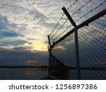 amazing tropical      sunset ... | Shutterstock . vector #1256897386