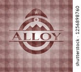 alloy red emblem with geometric ... | Shutterstock .eps vector #1256898760
