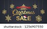 christmas sale discount banner...   Shutterstock .eps vector #1256907550