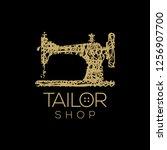 tailor vector logo. sewing... | Shutterstock .eps vector #1256907700
