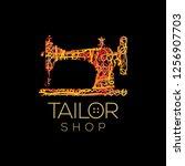 tailor vector logo. sewing... | Shutterstock .eps vector #1256907703