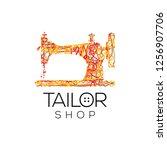 tailor vector logo. sewing... | Shutterstock .eps vector #1256907706