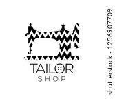 tailor vector logo. sewing... | Shutterstock .eps vector #1256907709