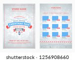 christmas sale catalog design.... | Shutterstock .eps vector #1256908660