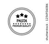 pasta premium quality emblem ...   Shutterstock .eps vector #1256936086