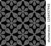black and white seamless...   Shutterstock .eps vector #1256937943