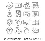 set of hdd  change card and... | Shutterstock .eps vector #1256942443
