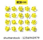 public services line icons. set ... | Shutterstock .eps vector #1256943979