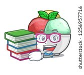 student with book sorbet ice...   Shutterstock .eps vector #1256957716
